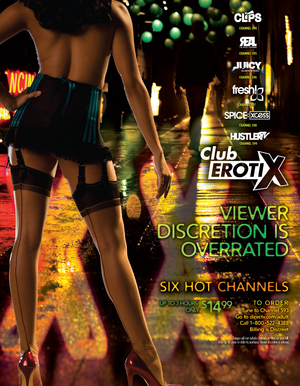 DIRECTV Club Erotix Adult Channels Print Ads