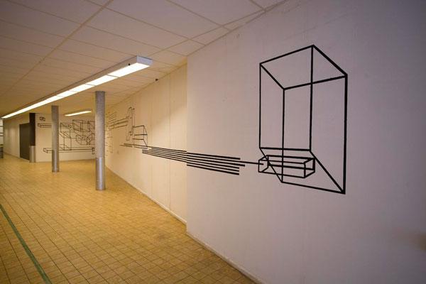 Tape Wall Drawing Bob Waardenburg