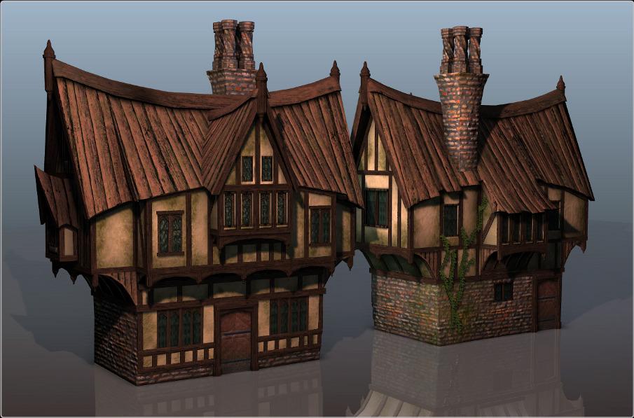 stylized tudor house